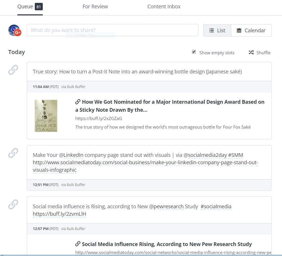 Social media management buffer posting schedule