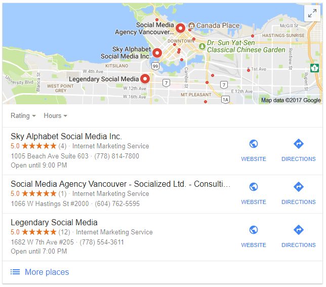 social media marketing vancouver graphic showing sky alphabet social media at the top
