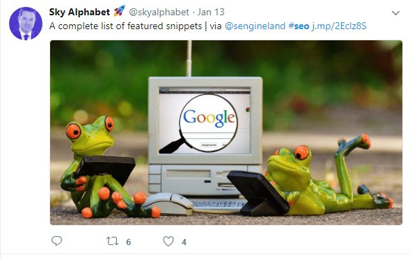 A complete list of featured snippets for SEO tweet