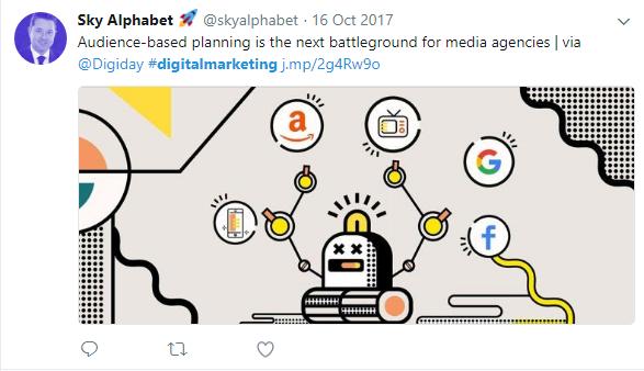 digital marketing audience tweet
