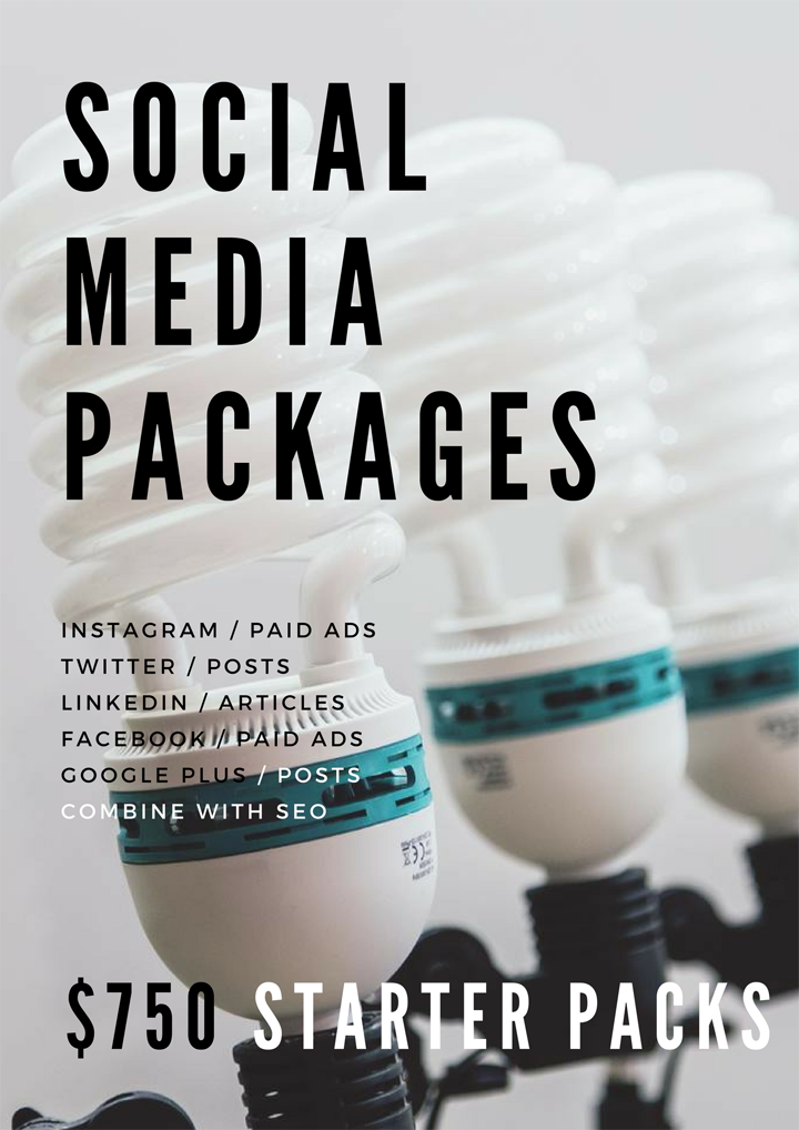 Social Media packages by sky alphabet