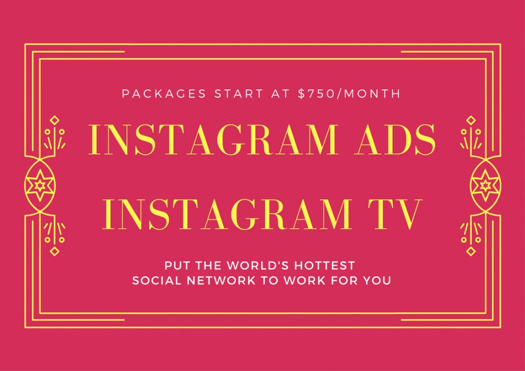 Sky Alphabet Social Media package for Instagram Ads and Instagram TV