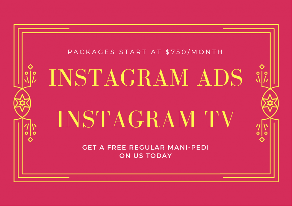 Instagram ads and Instagram TV special 750 per month