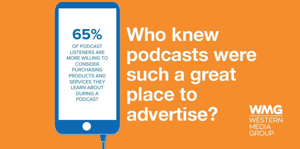 "Programmatic Audio campaign still #18: ""Who knew podcasts were such a great place to advertise?"""