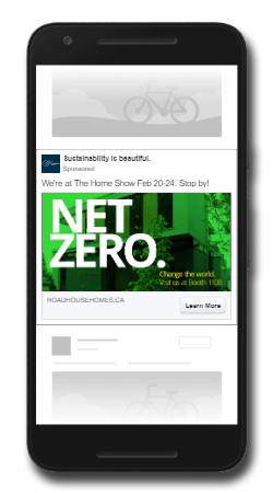 An example of a Facebook Audience Network Native ad. This ad format is shown on third-party mobile apps and mobile websites.