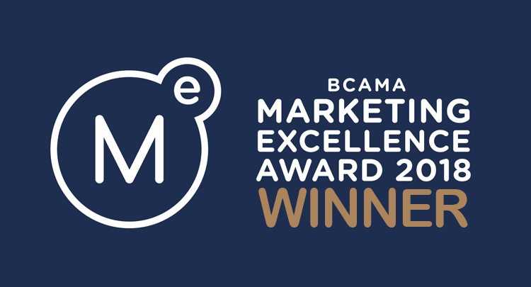 Sky Alphabet wins social media award at the BCAMA Marketing Excellence Awards in Vancouver BC