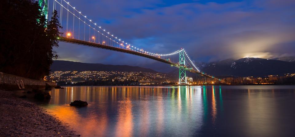 social media vancouver Sky Alphabet Shot of Vancouver BC Bridge Lions Gate