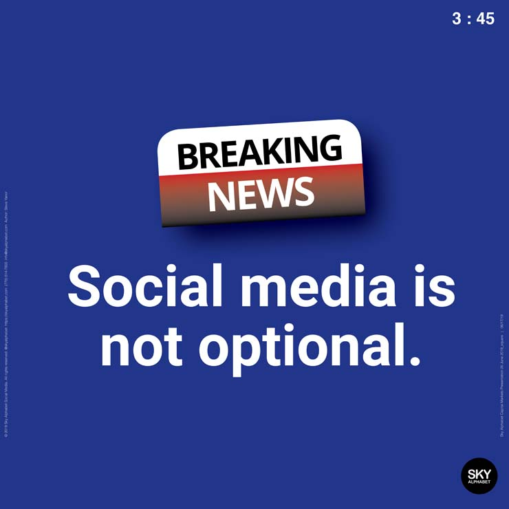 For public companies social media is not optional.