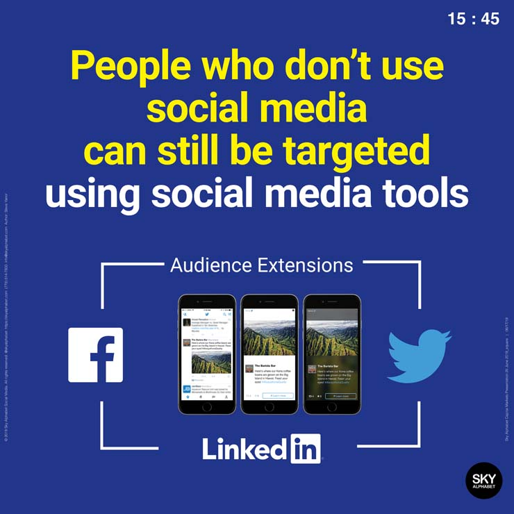 People who don't use social media can still be targeted using social media ad tools.
