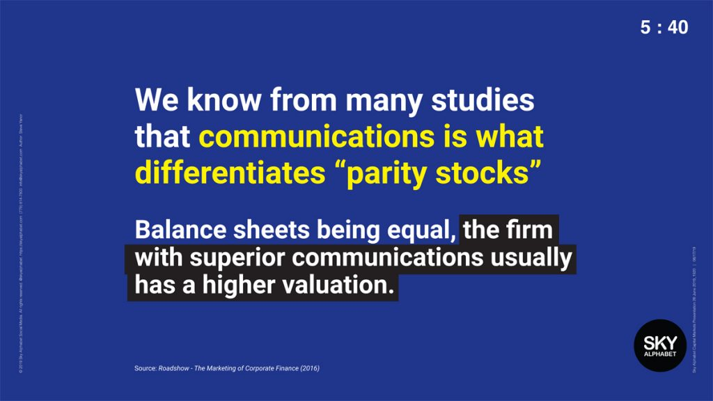 We know that communications is what differentiates parity stocks. As a primary communications channel, social media is increasingly being used as a research tool to identify arbitrage opportunities.