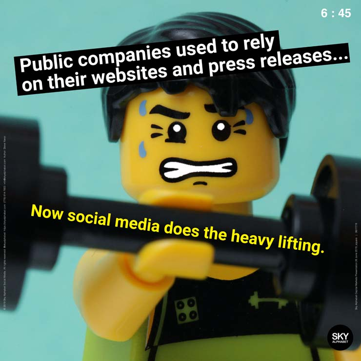 Companies used to rely on their websites and press releases for disclosure. Now social media does the heavy lifting.