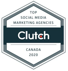 Ranked as a top social media agency in Canada for 2020 by Clutch.