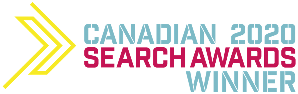 "Corporate Social Media agency Sky Alphabet won a Canadian Search Award on Sept 17, 2020 for ""the best use of socal media in a search campaign."""