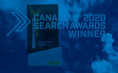 Best social media award Sky Alphabet 2020 Canadian Search Awards