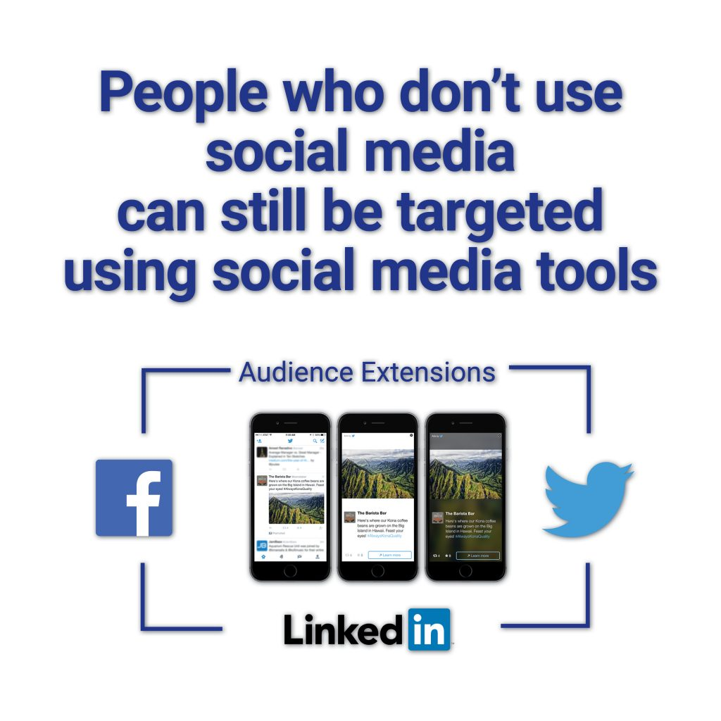 Investors not on social media can still be targeted using social media tools