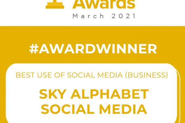 social media business award 2021 Sky Alphabet Social Media