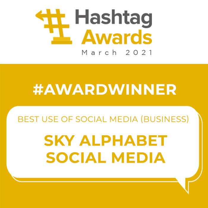 social media business award 2021 Sky Alphabet Social Media