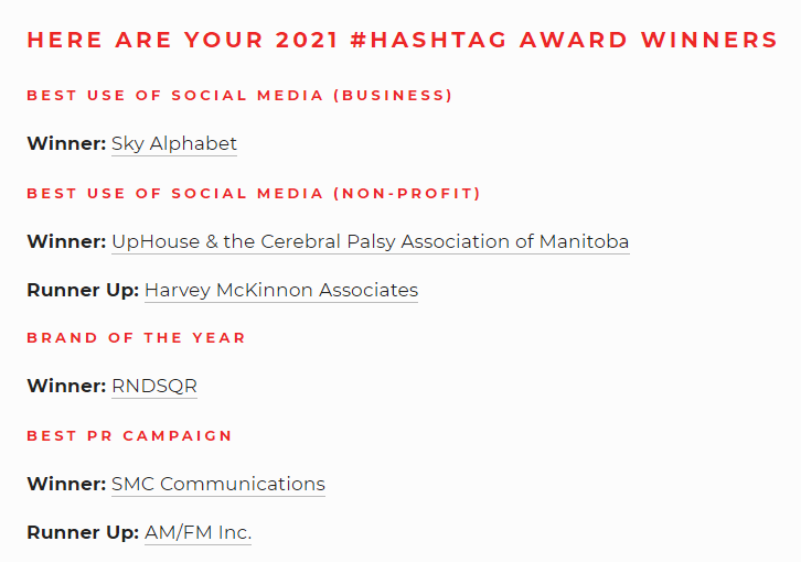 Social Media business award winner Sky Alphabet took the category at the March 5, 2021 event.
