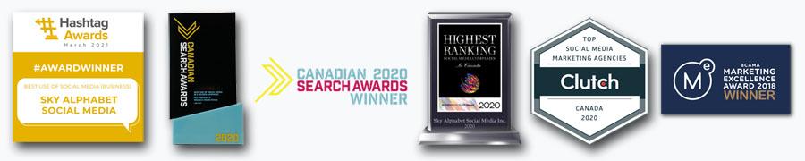 Sky Alphabet social media awards as of March 2021.