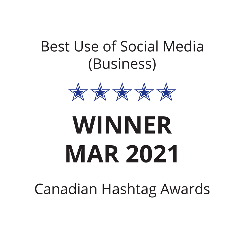 Best social media business campaign March 2021 Sky Alphabet Social Media Canadian Hashtag Awards.