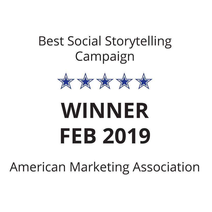 Best social media storytelling campaign American Marketing Association February 2019 Sky Alphabet Social Media
