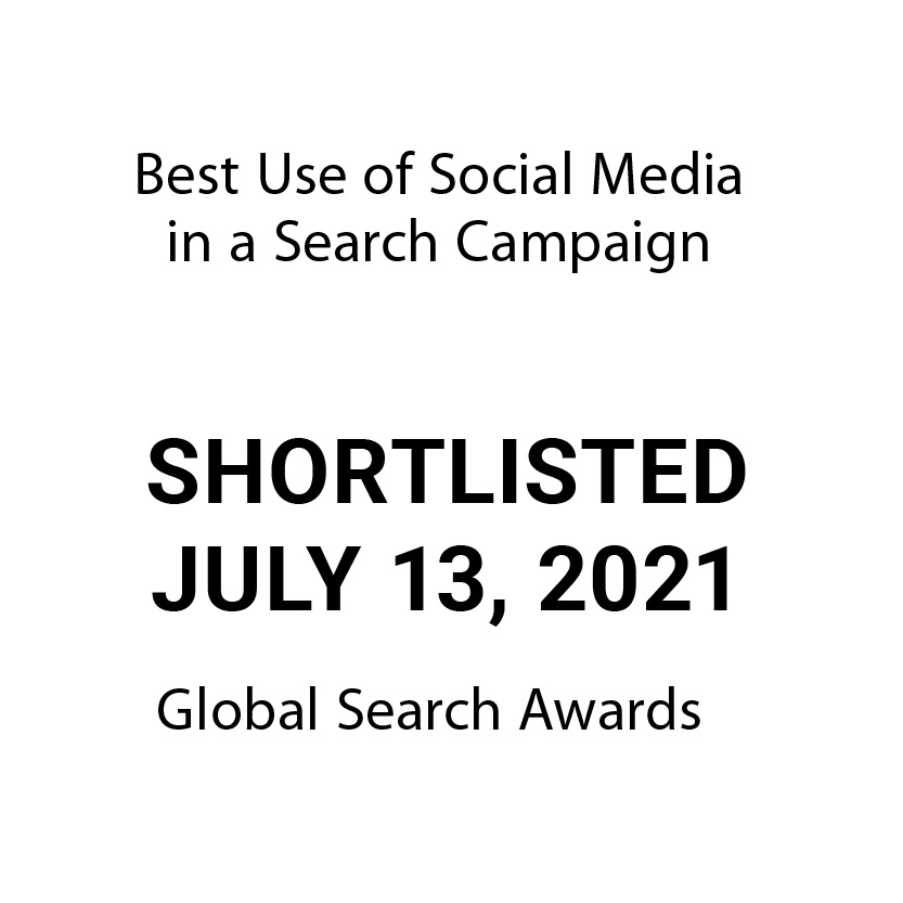 """Sky Alphabet is shortlisted in the upcoming Global Search Awards in the category """"Best Use of Social Media"""" in a Search Campaign. Results will be announced July 13, 2021."""
