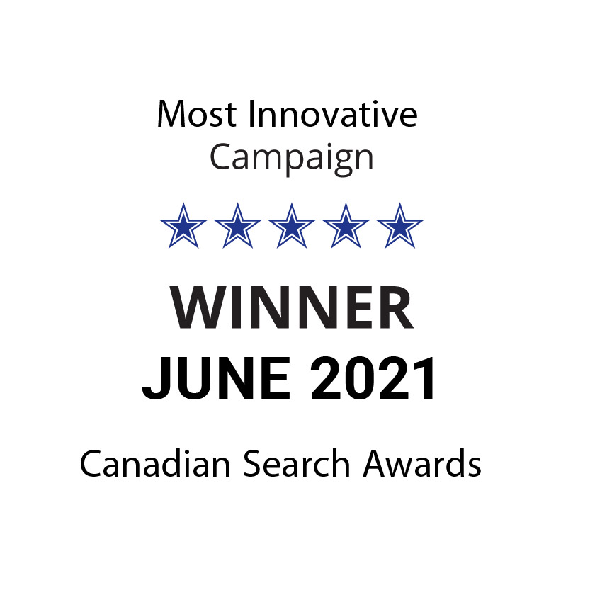 """Sky Alphabet won for """"most innovative"""" campaign at the Canadian Search Awards on June 10, 2021"""