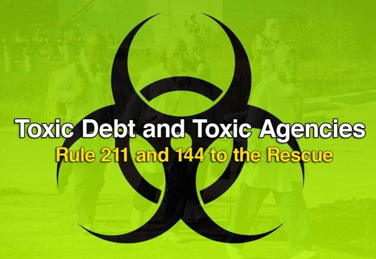 Toxic Debt and toxic agencies